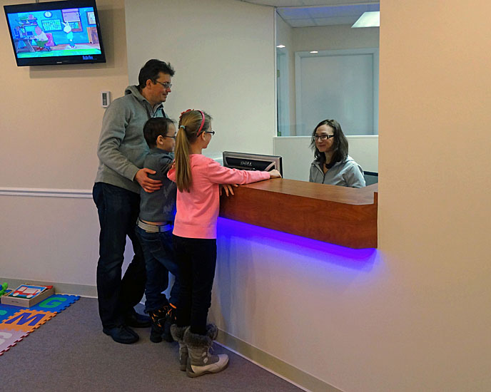Holmdel, NJ pediatric office - reception desk